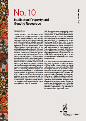 Front cover of WIPO publication Background Brief – No.10