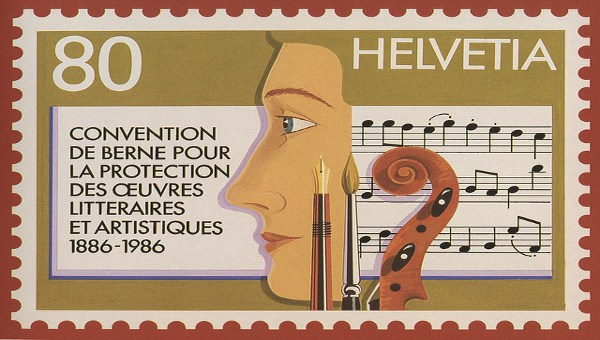 A Berne Convention commemorative stamp
