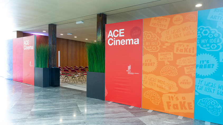 the WIPO Advisory Committee on Enforcement (ACE) cinema entrance