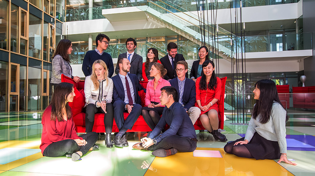 A group of WIPO interns from 2016