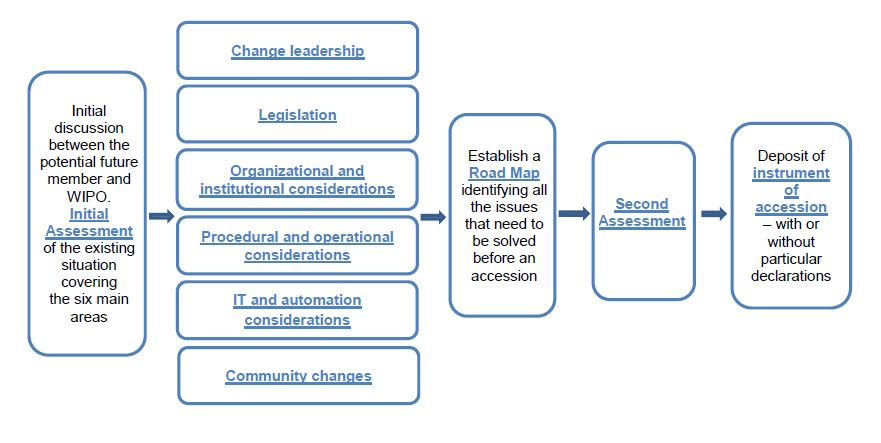 Flow chart of accession steps
