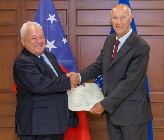Samoa's accession to the PCT