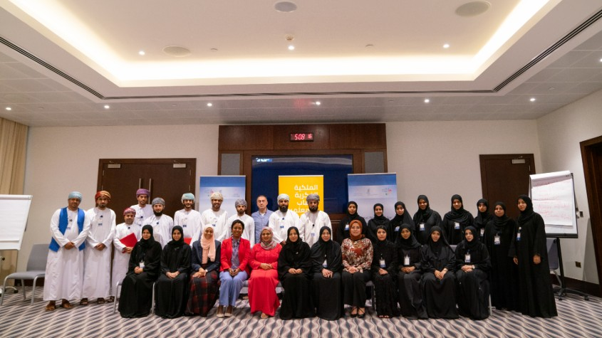 Group photo of the 22 Omani teachers
