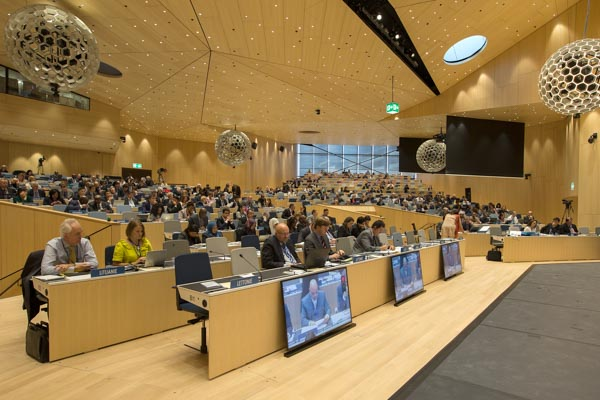 Delegates participating in WIPO's Assemblies