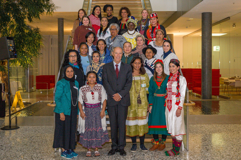 Photo of WIPO Director General Meets with women entrepreneurs from indigenous peoples and local communities.